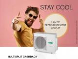 Multisplit cashback: 1 an de refroidissement gratuit!