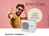 Multisplit cashback: 1 jaar gratis koeling!