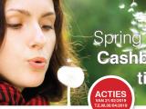 Spring de lente in met onze SpringTime Cashback actie